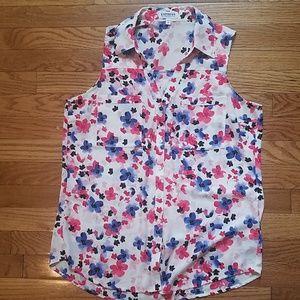 Express portofino floral sleeveless blouse